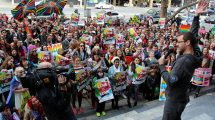 A marriage equality rally in Adelaide. Image: Jenny Scott (Flikr)